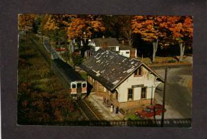CT Cornwall Bridge Railroad Train Station Depot New Haven Connecticut Postcard