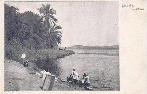 Belgian Congo Lavaderes au Fleuve