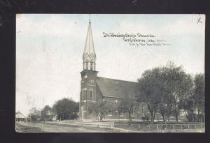 CRESTON IOWA ST. MALACKY'S CHURCH ANTIQUE VINTAGE POSTCARD