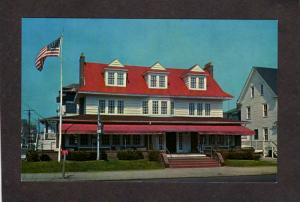 NJ Plymouth Inn Hotel Ocean City New Jersey Postcard US Flag
