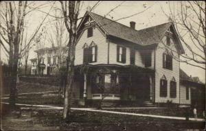 Leonardsville NY Church Parsonage c1910 Real Photo Postcard CRISP IMAGE