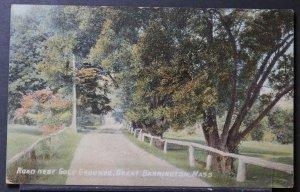 Great Barrington, MA - Road Near Golf Grounds - 1915 Flag Cancel