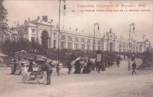 Belgium Bruxelles Exposition 1910 La Facade Principale Vue De La Grande Entree