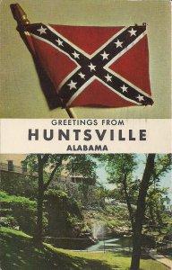Huntsville AL, Confederate Battle Flag, Civil War, NASA Space Center, 1964