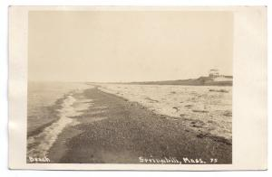 RPPC Springhill MA Real Photo Post Card Cape Cod Beach c1910