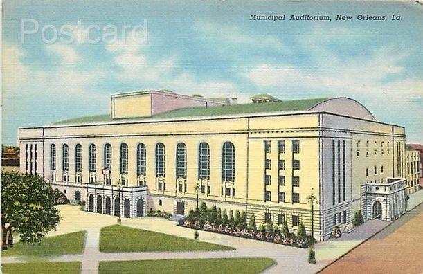 LA, New Orleans, Louisiana, Municipal Auditorium, Curteich No. 8A-H625