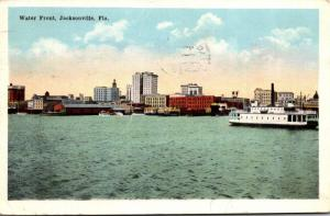 Florida Jacksonville Water Front View 1917