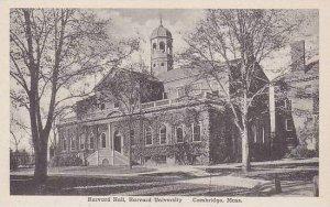 Massachusetts Cambridge Harvard Hall Harvard University Albertype