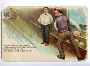 177084 BOWLING Gentleman as Ball Vintage COMIC PC