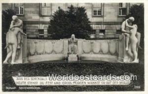 Stuttgart Germany, Deutschland Postcard Aud des Schicksals Dunkler Quelle Rin...