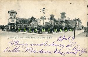 1905 Saint Augustine Florida Postcard: Alcazar Hotel & Cordova Annex - Rare