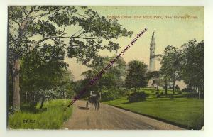 ft975 - English Drive , East Rock Park , New Haven , Conn , USA  - postcard