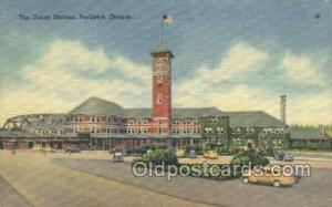 Union Station, Portland, Or, Oregon, USA Train Railroad Station Depot Post Ca...