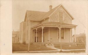 Spencerville OH Glen Core & Ira Bagel~4th & College Home Elden, Luro RPPC c1920s
