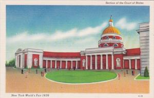 New York World's Fair 1939 Section Of The Court Of States