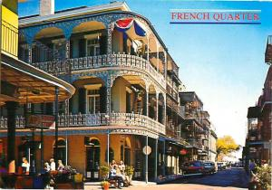 French Quarter New Orleans Balconies Royal St St Peter Street  Postcard  # 7505