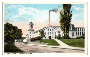 Early 1900s Hockanum Mill, Rockville, CT Postcard
