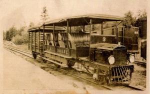 ME - Farmington circa 1910. Sandy River & Rangeley Lakes Railroad Car.