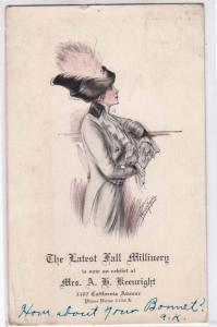 Fall Millinery - Mrs A.G.Keenright