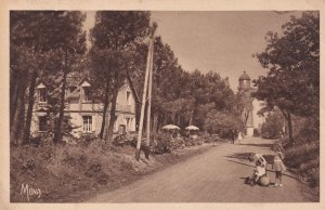 Varengeville Sur Mers Childs Hat Blowing Antique French Postcard