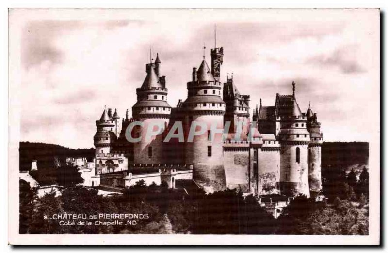Old Postcard Chateau de Pierrefonds Chapel Approval