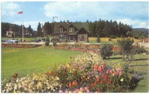 Flower Garden & Administration Building, Fundy National Park, New Brunswick, pre