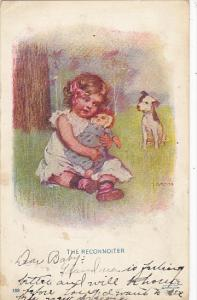 Gross The Reconnoiter Dog Watching Young Girl With Doll 1908