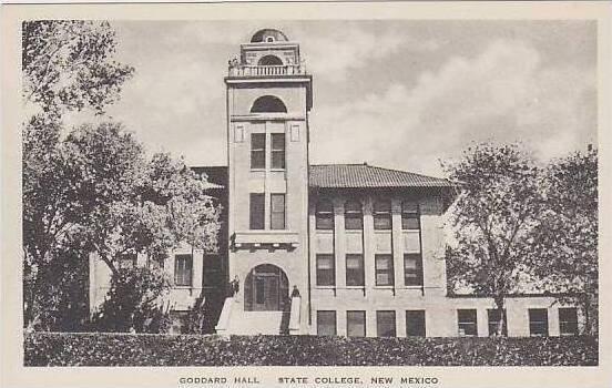New Mexico State College Goddard Hall Albertype