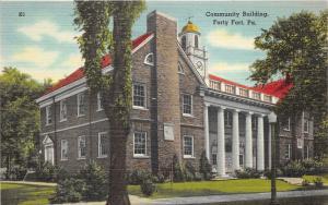 Wilkes-Barre/Forty Fort Pennsylvania~Community (Borough) Bldg on Wyoming Avenue