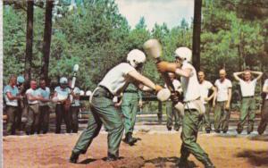 Military Pugil Stick Trainees Fort Jackson Columbia South Carolina