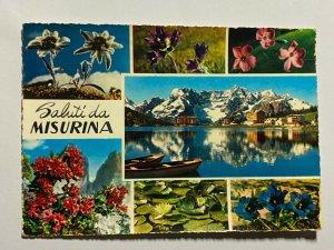 POSTED 1980 MULTI VIEW PICTURE POSTCARD - SALUTI MISURINA    (KK2248)