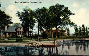 Maine Portland Deering's Oaks 1912