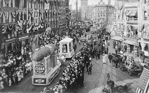 Troy NY Greatest Cigar On Earth & Gold Coin Stoves Parade Floats RPPC