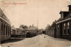 CPA APPINGEDAM Stationsstraat NETHERLANDS (706261)