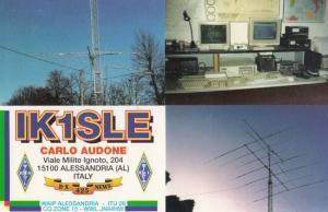 Alessandria Italy QSL Amateur Italian Radio Postcard