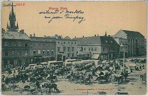 VINTAGE POSTCARD:  CZECH REPUBLIC - Prague   Praha - 1900 MARKET
