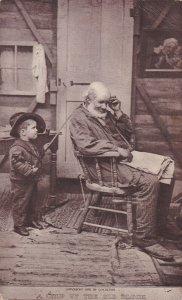 Un Chip De Le Vieux Bloc Off Homme & Boy SHEAHAN'S Célèbres Photo Carte Postale