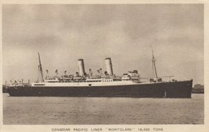Oceanliner/Steamer/Ship, 20-30s ; Canadian Pacific MONTCLARE