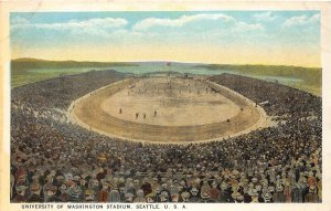 G33/ Seattle University of Washington Postcard c1910 Football Stadium
