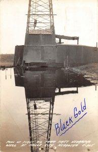 F56/ Falls City Nebraska RPPC Postcard 1939 Oil Pool Well Derrick