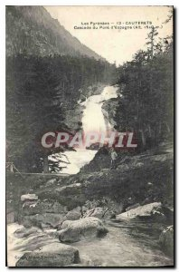 Old Postcard The Pyrenees Cauterets Cascade Bridge of Spain