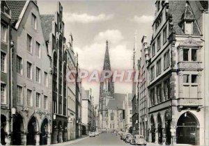 Modern Postcard Munster Prinzipalmarkt mit St. Lamberti
