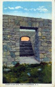 [ Santway ] US NY Fort Ticonderoga - Ethan Allen Gate (Color)