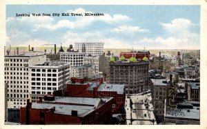 Milwaukee, Wisconsin - Looking West from the City Hall Tower - c1920