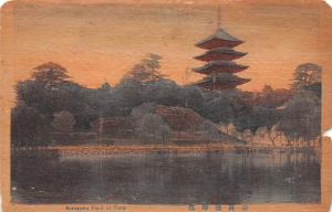 Japan Old Vintage Antique Post Card Sarusawa Pond Nara Unused