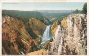 Lower Falls Of The Yellowstone Yellowstone National Park Detroit Publishing