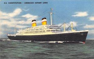 SS Constitution Cunard Line Ship 1953
