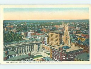 Unused W-Border PANORAMIC VIEW Indianapolis Indiana IN i0519