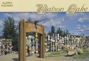 World Famous Signpost Forest, Alaska Highway, Watson Lake, Yukon, Canada, 50-...