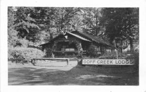 Goff Creek Lodge Yellowstone Wyoming 1946 RPPC Photo Postcard 12517